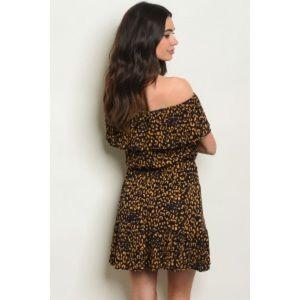 """Dresses - 👗 ARRIVED👗 """"Back to life"""" Mustard leopard dress"""